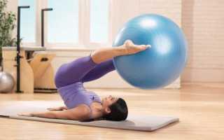 Занятия с фитболом для похудения после родов