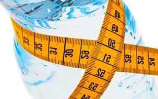 Вода как способ для похудения