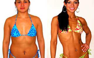 Как качать мышцы при похудении