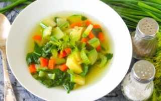 Овощной суп без сельдерея для похудения