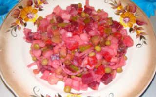 Винегрет салат для похудения