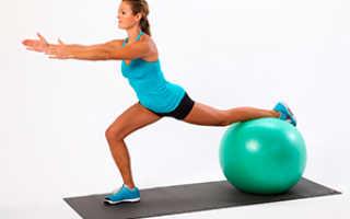 Занятия с фитболом для похудения бедер